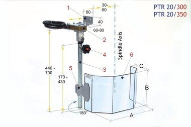 Beschermkap voor grote boormachines PTR 20/300, 3,90kg