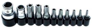 Bit Set | Aandrijving 10 mm (1/4) / 10 mm (3/8) | Torx tamperproof (voor Torx) | 11 stks