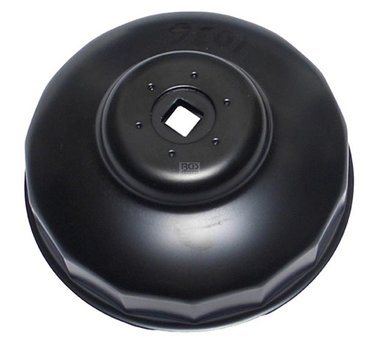 Eindkap oliefiltersleutel, zwarte afwerking, 99 mm x p15