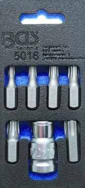 Schroevendraaierbitset | Aandrijving 10 mm (3/8) | Torc (voor Torx) 7 delig