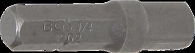 Bit-ratelsleuteladapter buitenzeskant (1/4) - buitenvierkant (1/4) 30 mm