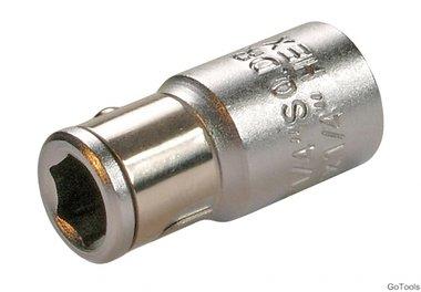 1/4 adapter met behouden van ball, f. 1/4 bits