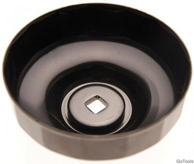 Oliefiltersleutel 15-kant diameter 74 mm voor Audi, Chrysler, GM, Rover