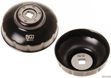 Oliefiltersleutel twaalfkant diameter 76 mm voor Fiat, Mercedes-Benz, Renault