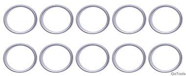 Assortiment afdichtringen voor BGS-126 diameter 17 / 20,5 mm 20-delig