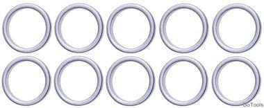 Assortiment afdichtringen voor BGS 126 diameter 13 / 16,5 mm 10-delig