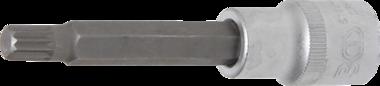 Dopsleutelbit lengte 100 mm 12,5 mm (1/2) veeltand (voor XZN) M9