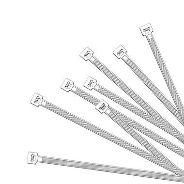 Kabelbinders 380x4,7mm 1000 stuks wit