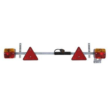 Verlichtingsbalk metaal 110-160cm uitschuifbaar + 7,5M kabel