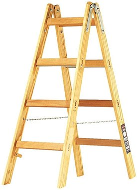 Houten ladder 2x4 sporten Hoogte bok ladder 1,2m