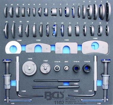 2/3 Tool Tray voor Roller Kasten: 50-delige remzuiger Wind-Back Set