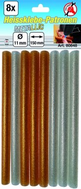8-delige Metallic Glue Sticks goud / zilver, 11 mm