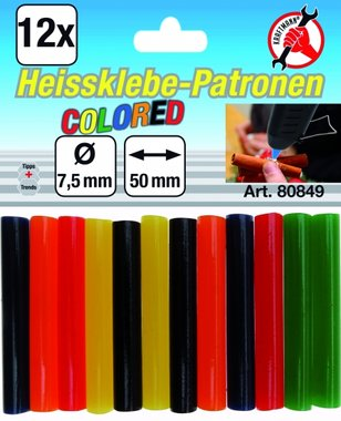 12-delige gekleurde lijmstiften, 7,5 mm
