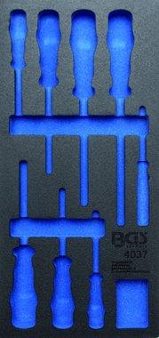 1/3 Tool Tray (408x189x32 mm), leeg, voor 8-delige VDE schroevendraaier set