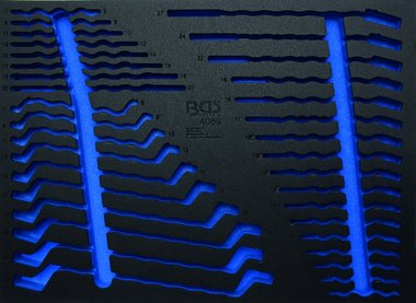 3/3 Tool Tray (408x567x32 mm), leeg, voor 35-delig Open End, Ring, Combinatie Spanner Set