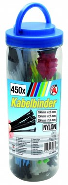450-delige Colored Cable Tie Assortiment