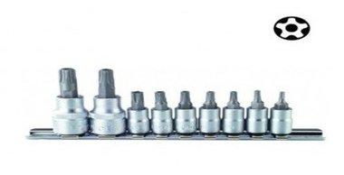 Doppenset 5-kant Resistorx TS 9 delig