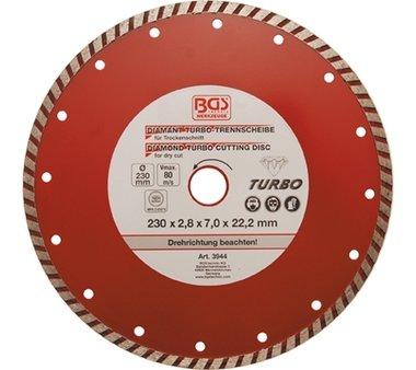 Turbo-doorslijpschijf diameter 230 mm