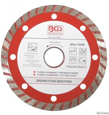 Turbo-doorslijpschijf diameter 115 mm