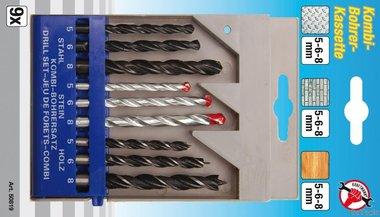 9-delige combinatie drill set