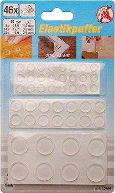 46-delige elastische stopper set, zelfklevende, transparante