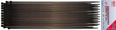 50-iece cable tie assortiment, 4,5 x 350 mm, zwart