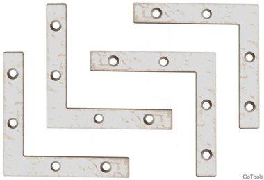 4-delige bracket steel kit, 75x75x12 mm