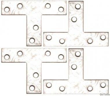 4-delige bracket steel kit, 70x50x16 mm