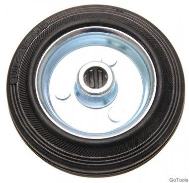 100 mm stevige rubber wiel, stalen velg