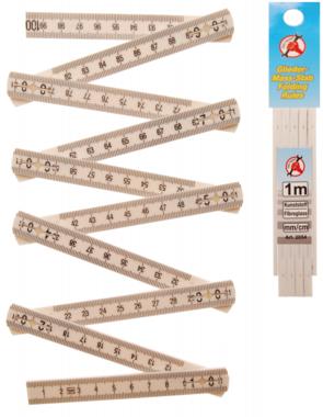 Folding Rule, 10 segmenten, Lengte 1 m