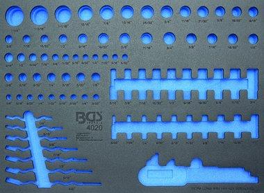 3/3 Gereedschap module, leeg: voor dopsleutels en combinatie sleutel