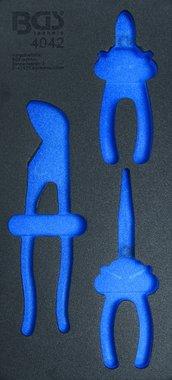 1/3 Tool Tray (408x189x32 mm), leeg, voor 3-delige Pliers Set