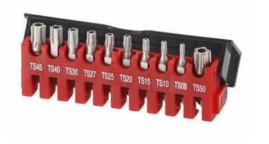 Bit set 5-kant Resistorx TS 10 delig
