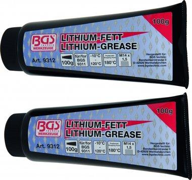 Lithium Vet voor Grease Gun BGS 9311, 2 Tubes