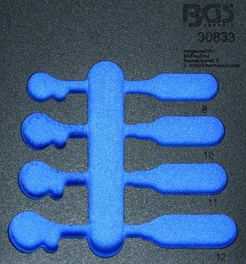 1/6 Tool Tray voor Workshop Trolley, leeg: 4-delige Ratchet Ring Spanner