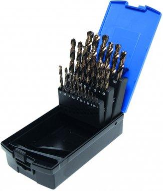 26-delige Twist Drill Set, HSS-G M35 Kobalt Staal, 1-13 mm