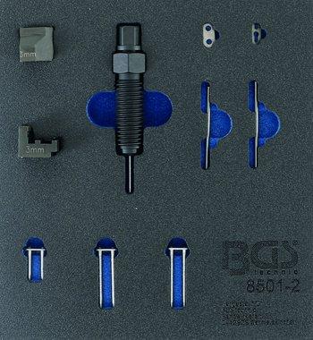 Uitbreidingset voor distributieketting klinkgereedschap (BGS 8501) geschikt voor 3 mm kettingbouten