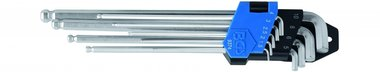 9-delige L-Type Key Set, Inner Hex, extra lang, 1,5 - 10 mm