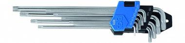 9-delige L-type sleutel set, T-Star, extra lang, 1,5 - 10 mm