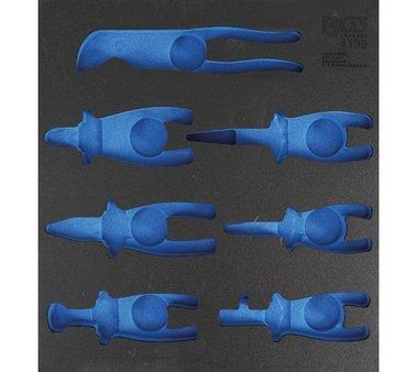 2/3 gereedschapskist (408x378x32 mm), leeg, voor 7-delige tangenset