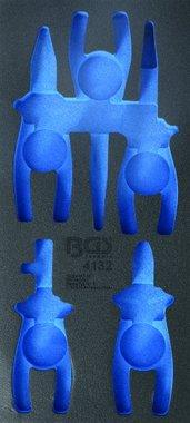 1/3 gereedschapskist (408x189x32 mm), leeg, voor 5-delige VDE-tangenset