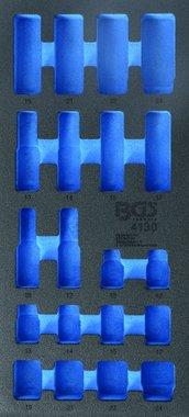 1/3 gereedschapskistje (408x189x32 mm), leeg, voor 20-delige slagcontactdoos 10-24 mm