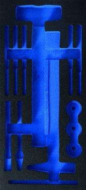 1/3 gereedschapskistje (408x189x32 mm), leeg, voor 14-delige hamer met verwisselbare hoofden en pinpunch en beitel set