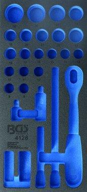 1/3 gereedschapskist (408x189x32 mm), leeg, voor 27-delige 1/2 Socket Set
