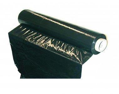 Rekfolie zwart 23my, 250mtr x 50cm