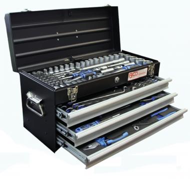 Metalen gereedschapskist3 ladenmet 143 gereedschappen