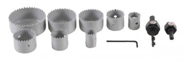 Gatzaagset diameter 19 - 64 mm 11-dlg