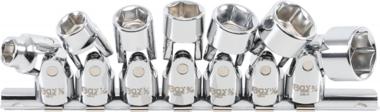 Verbindingssleutel Set 10 mm (3/8 inch) aandrijving 3/8 inch - 3/4 inch inch maten 7 st.