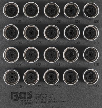 Rim Lock dop Set voor Opel, Vauxhall (Version A) 20 delig