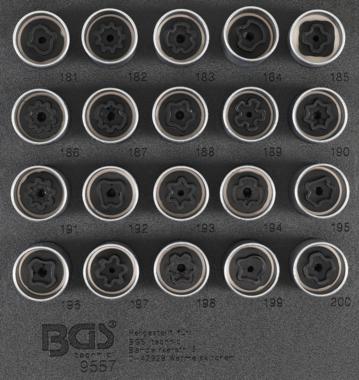 Rim Lock dop Set voor Opel, Vauxhall (Version B) 20 delig